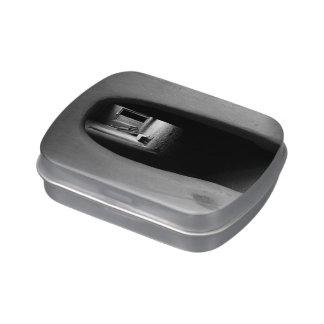 Adobe Passageway: Black & White photo Small Tin Jelly Belly Tin