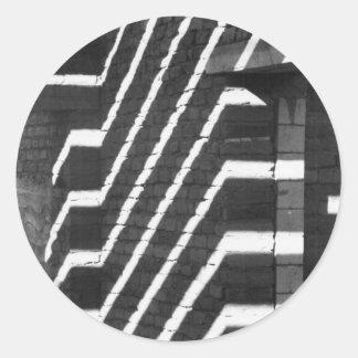 Adobe sombrea al pegatina de la ilusión óptica