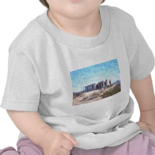 Adobe viejo en acuarela camiseta