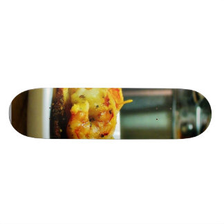 Adobo Shrimp On Potato Galettes Skateboard