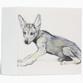 Adolescent Arabian Wolf Pup 2009 Binder