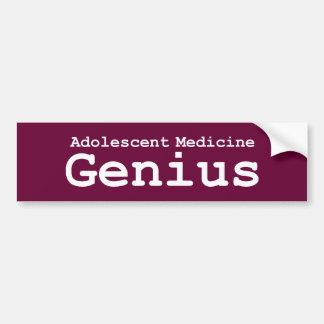 Adolescent Medicine Genius Gifts Bumper Sticker