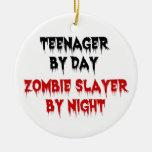 Adolescente del asesino del zombi del día por noch ornamento para reyes magos