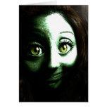 Adolescente del chica del zombi con los ojos GRAND Tarjeton