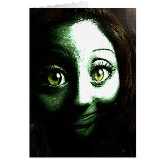 Adolescente del chica del zombi con los ojos GRAND Tarjeta De Felicitación