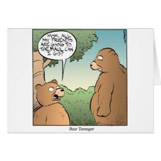 Adolescente del oso felicitacion