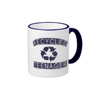 Adolescente reciclado taza a dos colores