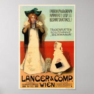Adolf Karpellus, Photographer, 1898 Vintage Poster