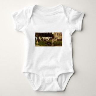 Adolf Menzel - garden scene Baby Bodysuit