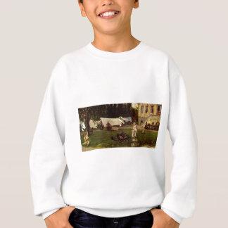 Adolf Menzel - garden scene Sweatshirt