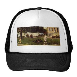 Adolf Menzel - garden scene Trucker Hat