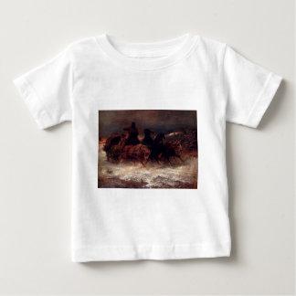 Adolf Schreyer A Troika In Winter Baby T-Shirt