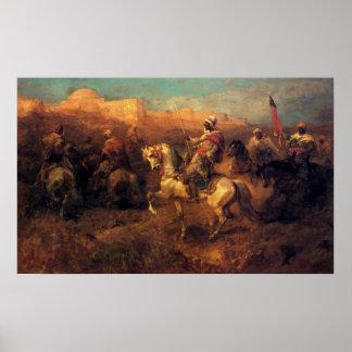 Adolf Schreyer Arab Horsemen On The March Poster