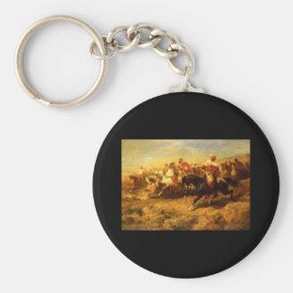 Adolf Schreyer Arabian Horsemen Keychain