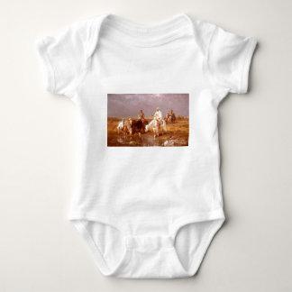 Adolf Schreyer Arabs Watering Their Horses Baby Bodysuit