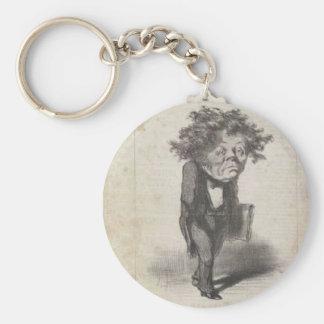 Adolfo Cremieux de Honore Daumier Llavero Redondo Tipo Pin