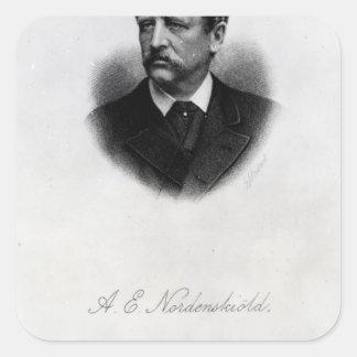 Adolfo Erik Nordenskiold, 1880 Calcomanía Cuadrada Personalizada