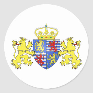 Adolfo Ier de Nassau Luxemburgo, Países Bajos Pegatina Redonda