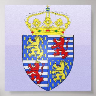 Adolfo Ier de Nassau Luxemburgo, Países Bajos Póster