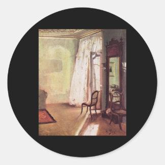 Adolph von Menzel Balcony Room Round Sticker