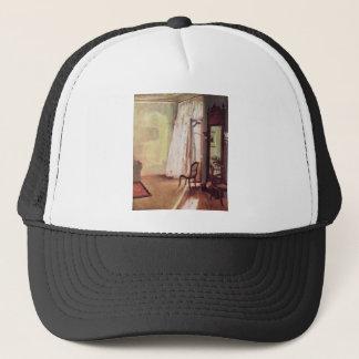 Adolph von Menzel Balcony Room Trucker Hat