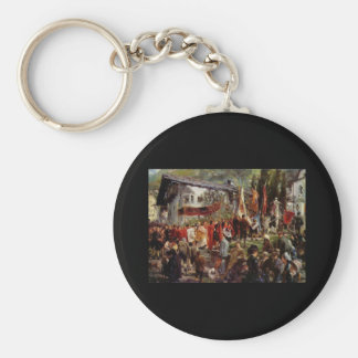 Adolph von Menzel Procession en Hofgastein Llavero Redondo Tipo Pin