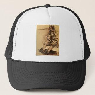 Adolph von Menzel Schlafender Man Asleep Trucker Hat