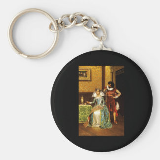 Adolphe Alexandre Lesrel The Attentive Courtier Basic Round Button Keychain