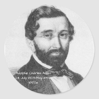 Adolphe Charles Adam, 1850a Classic Round Sticker