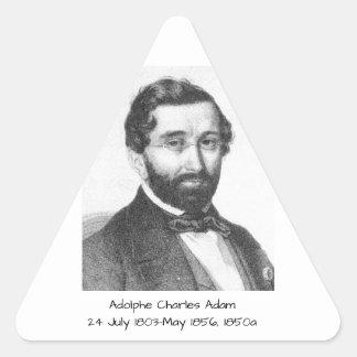 Adolphe Charles Adam, 1850a Triangle Sticker