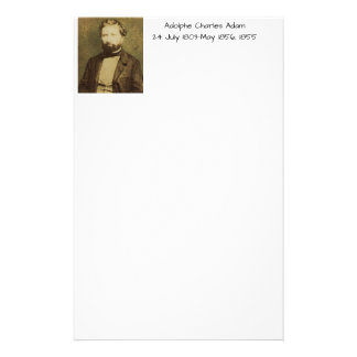 Adolphe Charles Adam, 1855 Stationery