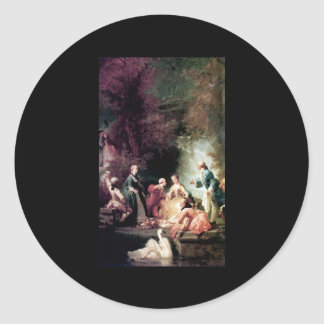 Adolphe Jourdan A Summer's Picnic Classic Round Sticker