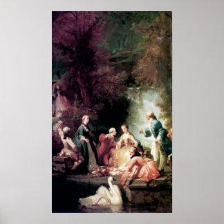 Adolphe Jourdan A Summer's Picnic Poster