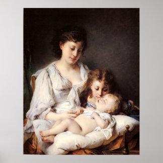Adolphe Jourdan Maternal Affection Poster