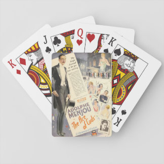 Adolphe Menjou 1926 silent movie exhibitor ad Playing Cards