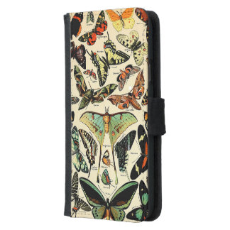 Adolphe Millot Papillons Wallet Phone Case For Samsung Galaxy S5