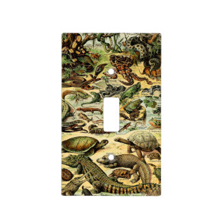 Adolphe Millot Reptiles 2 Light Switch Plate