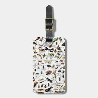 Adolphe Millot's Insectes Travel Bag Tag