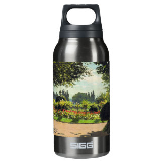 Adolphe Monet Reading in the Garden - Claude Monet 10 Oz Insulated SIGG Thermos Water Bottle
