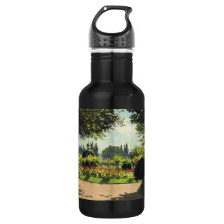 Adolphe Monet Reading in the Garden - Claude Monet 18oz Water Bottle