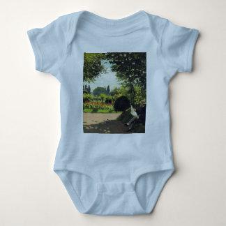 Adolphe Monet Reading in the Garden - Claude Monet T Shirt