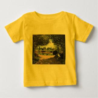 Adolphe Monet Reading in the Garden - Claude Monet Tshirts