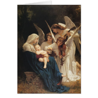 Adolphe-William Bouguereau. Song of the Angels Card