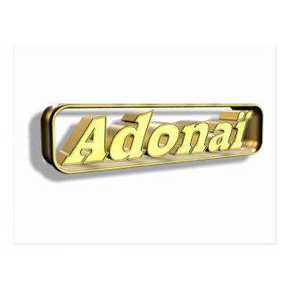 Adonaï2 oro 3D Postal