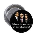 ¿Adónde damos vuelta en nuestros clunkers? Botón Pins