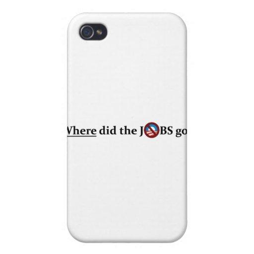 ¿Adónde los TRABAJOS fueron? ningún Obama iPhone 4/4S Carcasas