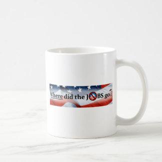¿Adónde los TRABAJOS fueron? ningún Obama Tazas De Café