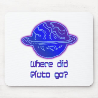 ¿Adónde Plutón fue? Alfombrillas De Ratón