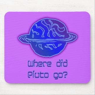 ¿Adónde Plutón fue? Mouse Pads