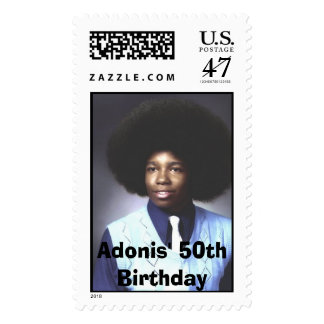 Adonis' 50th Birthday Postage Stamp